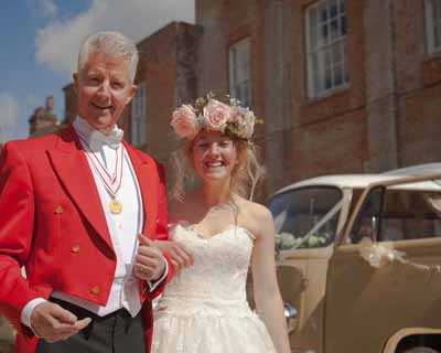 Sass & Grace bridal boutique roaming catwalk at Old Alresford