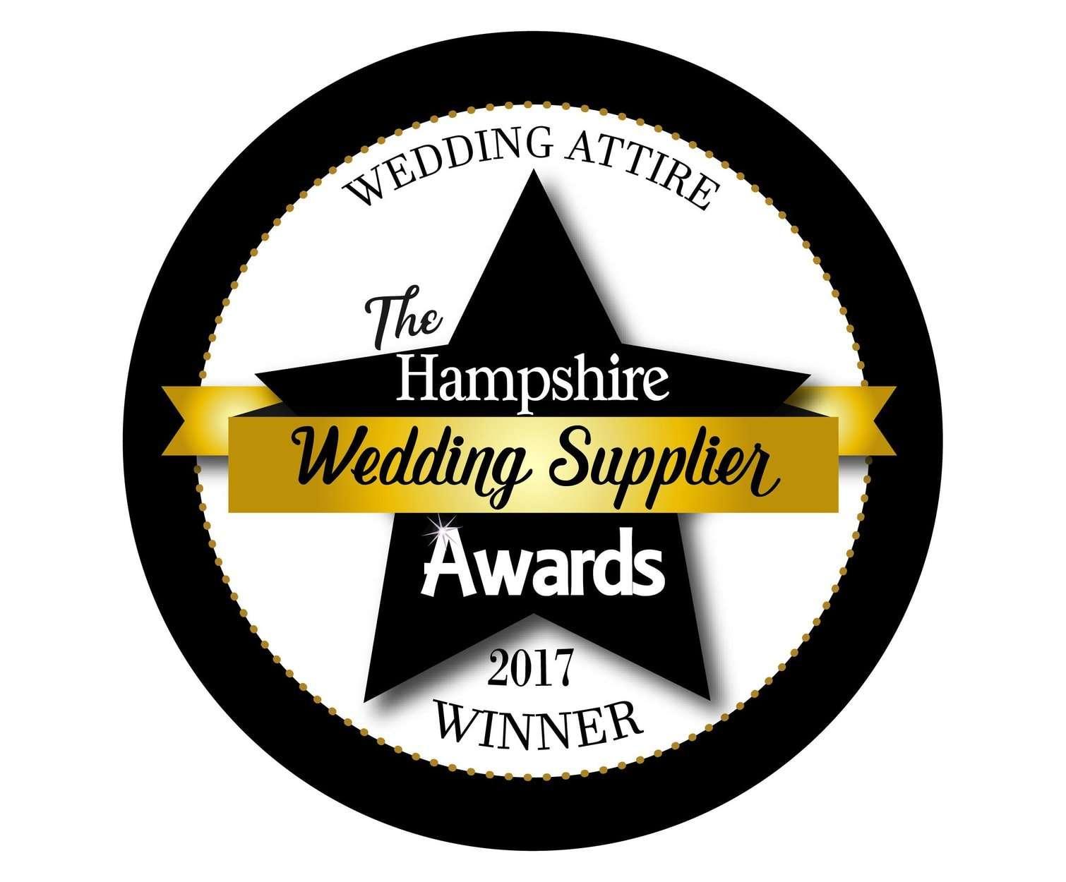 Winner Best Bridal Attire in Hampshire 2017